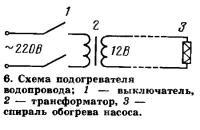 6. Схема подогревателя водопровода