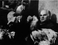 Г. Г. Костюков со своими курами