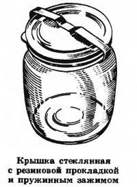 Крышка стеклянная с резиновой прокладкой и пружинным зажимом