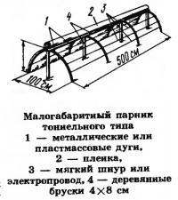 Малогабаритный парник тоннельного типа