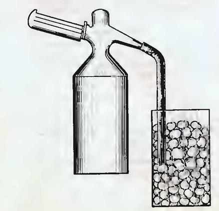 Наполнение пакета углекислым газом