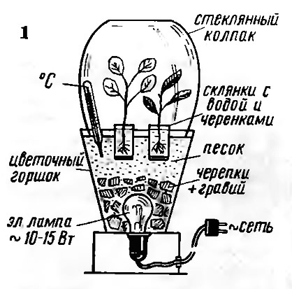 Рис. 1. Электролампа для обогрева горшка