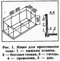 Рис. 1. Ящик для прессования сена