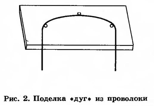 Рис. 2. Поделка «дуг» из проволоки