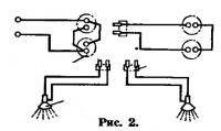 Рис. 2. Схема подключения ламп
