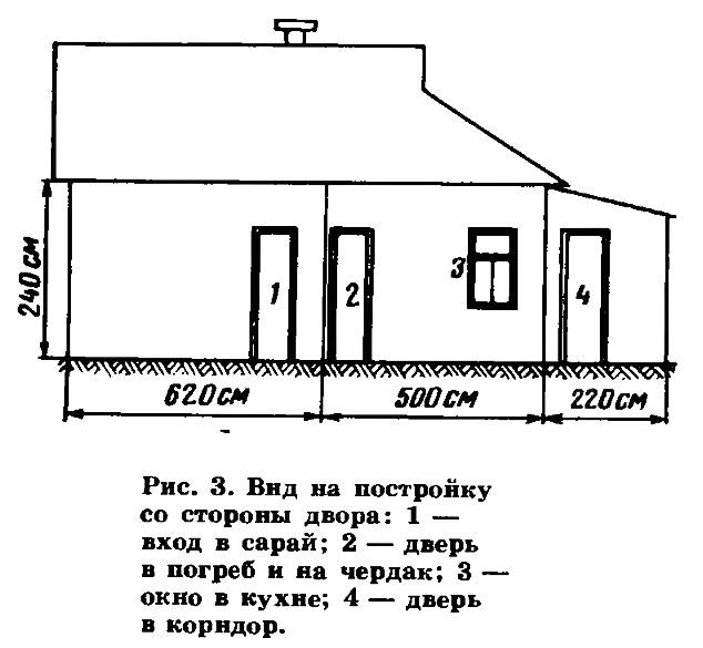 Рис. 3. Вид на постройку со стороны двора