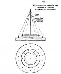Рис. 4. Ступенчатая клумба для гороха и других вьющихся растений