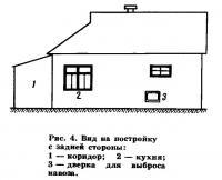 Рис. 4. Вид на постройку с задней стороны