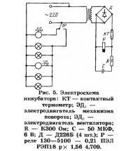 Рис. 5. Электросхема инкубатора