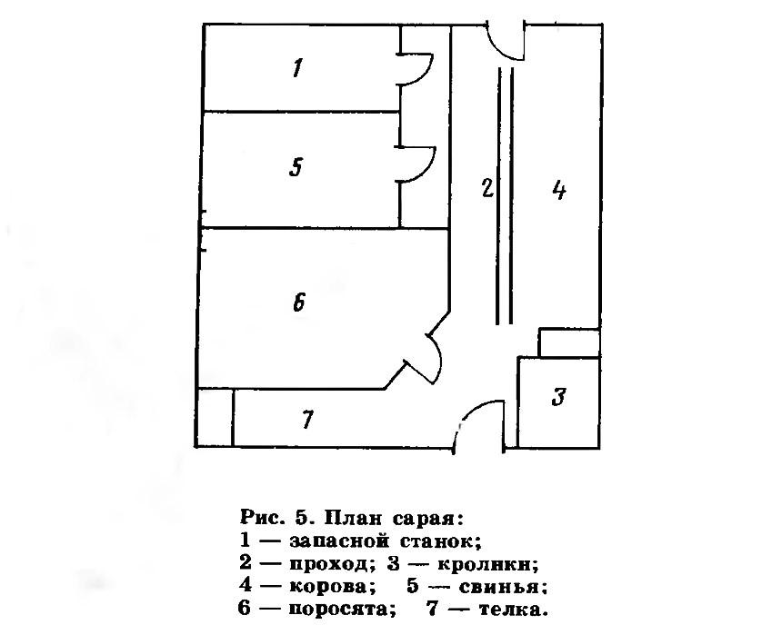 Рис. 5. План сарая