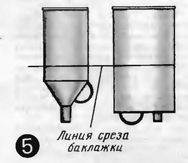 Рис. 5. Воронки из керосиновой баклажки