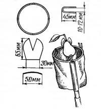 Рис. 6. Плодосъемник с резцом