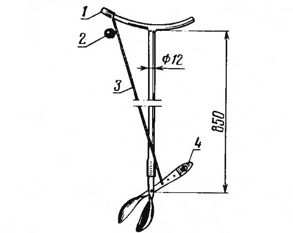 Рис. 9. Плодосъемник по типу ножниц