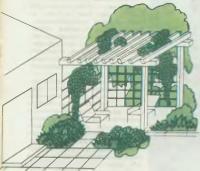 Защита от ветра зоны отдыха у дома