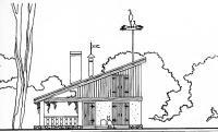 Жилой дом и хозяйственный блок